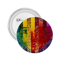 Conundrum I, Abstract Rainbow Woman Goddess  2 25  Button by DianeClancy