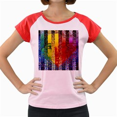 Conundrum I, Abstract Rainbow Woman Goddess  Women s Cap Sleeve T Shirt (colored) by DianeClancy