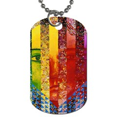 Conundrum I, Abstract Rainbow Woman Goddess  Dog Tag (one Sided) by DianeClancy