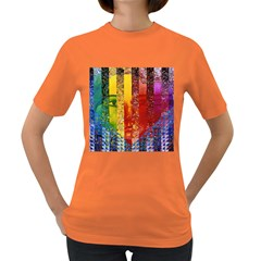 Conundrum I, Abstract Rainbow Woman Goddess  Women s T Shirt (colored) by DianeClancy