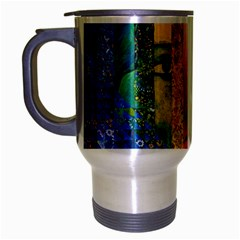 Conundrum I, Abstract Rainbow Woman Goddess  Travel Mug (silver Gray) by DianeClancy