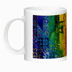Conundrum I, Abstract Rainbow Woman Goddess  Glow In The Dark Mug by DianeClancy