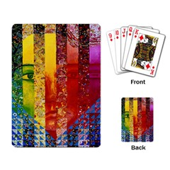 Conundrum I, Abstract Rainbow Woman Goddess  Playing Cards Single Design by DianeClancy