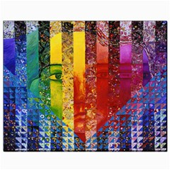 Conundrum I, Abstract Rainbow Woman Goddess  Canvas 8  X 10  (unframed) by DianeClancy