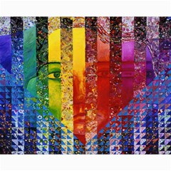 Conundrum I, Abstract Rainbow Woman Goddess  Canvas 16  X 20  (unframed) by DianeClancy