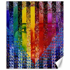 Conundrum I, Abstract Rainbow Woman Goddess  Canvas 20  X 24  (unframed) by DianeClancy
