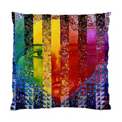 Conundrum I, Abstract Rainbow Woman Goddess  Cushion Case (single Sided)  by DianeClancy