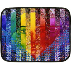 Conundrum I, Abstract Rainbow Woman Goddess  Mini Fleece Blanket (two Sided) by DianeClancy