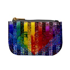 Conundrum I, Abstract Rainbow Woman Goddess  Coin Change Purse by DianeClancy