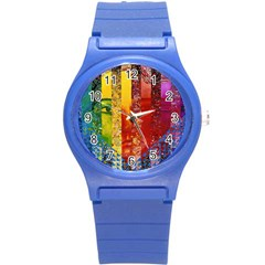Conundrum I, Abstract Rainbow Woman Goddess  Plastic Sport Watch (small) by DianeClancy