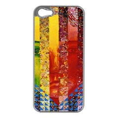 Conundrum I, Abstract Rainbow Woman Goddess  Apple Iphone 5 Case (silver) by DianeClancy