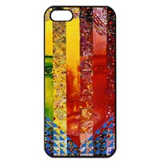 Conundrum I, Abstract Rainbow Woman Goddess  Apple Iphone 5 Seamless Case (black) by DianeClancy