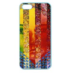 Conundrum I, Abstract Rainbow Woman Goddess  Apple Seamless Iphone 5 Case (color) by DianeClancy