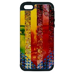 Conundrum I, Abstract Rainbow Woman Goddess  Apple Iphone 5 Hardshell Case (pc+silicone) by DianeClancy