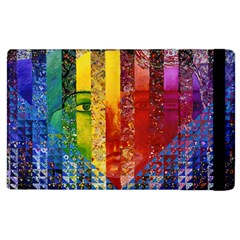 Conundrum I, Abstract Rainbow Woman Goddess  Apple Ipad 2 Flip Case by DianeClancy