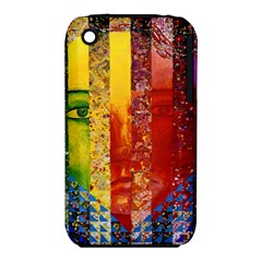 Conundrum I, Abstract Rainbow Woman Goddess  Apple Iphone 3g/3gs Hardshell Case (pc+silicone) by DianeClancy