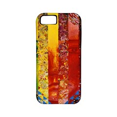 Conundrum I, Abstract Rainbow Woman Goddess  Apple Iphone 5 Classic Hardshell Case (pc+silicone) by DianeClancy