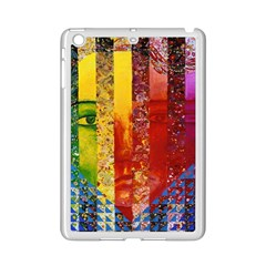Conundrum I, Abstract Rainbow Woman Goddess  Apple Ipad Mini 2 Case (white) by DianeClancy