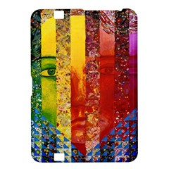 Conundrum I, Abstract Rainbow Woman Goddess  Kindle Fire Hd 8 9  Hardshell Case by DianeClancy