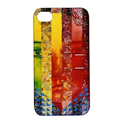 Conundrum I, Abstract Rainbow Woman Goddess  Apple Iphone 4/4s Hardshell Case With Stand by DianeClancy
