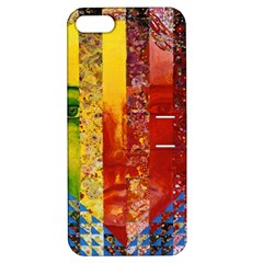 Conundrum I, Abstract Rainbow Woman Goddess  Apple Iphone 5 Hardshell Case With Stand by DianeClancy