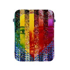 Conundrum I, Abstract Rainbow Woman Goddess  Apple Ipad Protective Sleeve by DianeClancy