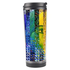 Conundrum I, Abstract Rainbow Woman Goddess  Travel Tumbler
