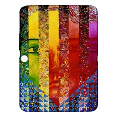 Conundrum I, Abstract Rainbow Woman Goddess  Samsung Galaxy Tab 3 (10 1 ) P5200 Hardshell Case  by DianeClancy