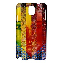 Conundrum I, Abstract Rainbow Woman Goddess  Samsung Galaxy Note 3 N9005 Hardshell Case by DianeClancy