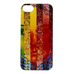 Conundrum I, Abstract Rainbow Woman Goddess  Apple Iphone 5s Hardshell Case by DianeClancy