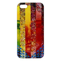 Conundrum I, Abstract Rainbow Woman Goddess  Iphone 5s Premium Hardshell Case by DianeClancy