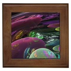 Creation Of The Rainbow Galaxy, Abstract Framed Ceramic Tile by DianeClancy