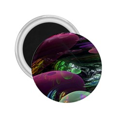 Creation Of The Rainbow Galaxy, Abstract 2 25  Button Magnet by DianeClancy