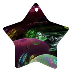 Creation Of The Rainbow Galaxy, Abstract Star Ornament by DianeClancy