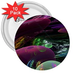 Creation Of The Rainbow Galaxy, Abstract 3  Button (10 Pack) by DianeClancy