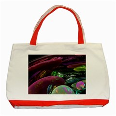 Creation Of The Rainbow Galaxy, Abstract Classic Tote Bag (Red)
