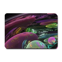 Creation Of The Rainbow Galaxy, Abstract Small Door Mat by DianeClancy
