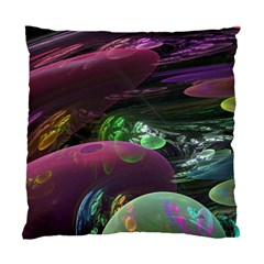 Creation Of The Rainbow Galaxy, Abstract Cushion Case (two Sided)  by DianeClancy