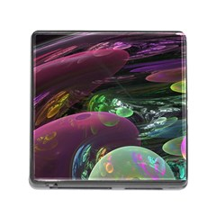 Creation Of The Rainbow Galaxy, Abstract Memory Card Reader With Storage (square) by DianeClancy