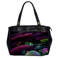 Creation Of The Rainbow Galaxy, Abstract Oversize Office Handbag (one Side) by DianeClancy