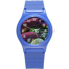 Creation Of The Rainbow Galaxy, Abstract Plastic Sport Watch (small) by DianeClancy