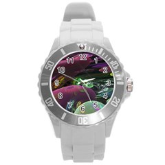 Creation Of The Rainbow Galaxy, Abstract Plastic Sport Watch (large) by DianeClancy