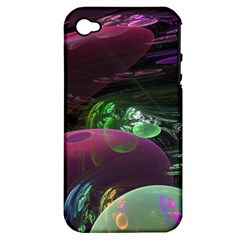 Creation Of The Rainbow Galaxy, Abstract Apple Iphone 4/4s Hardshell Case (pc+silicone) by DianeClancy