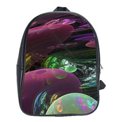 Creation Of The Rainbow Galaxy, Abstract School Bag (xl) by DianeClancy