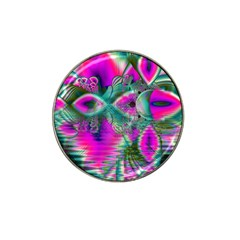 Crystal Flower Garden, Abstract Teal Violet Golf Ball Marker 10 Pack (for Hat Clip) by DianeClancy