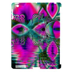 Crystal Flower Garden, Abstract Teal Violet Apple Ipad 3/4 Hardshell Case (compatible With Smart Cover) by DianeClancy
