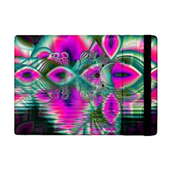 Crystal Flower Garden, Abstract Teal Violet Apple Ipad Mini Flip Case by DianeClancy