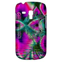 Crystal Flower Garden, Abstract Teal Violet Samsung Galaxy S3 Mini I8190 Hardshell Case by DianeClancy