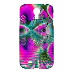 Crystal Flower Garden, Abstract Teal Violet Samsung Galaxy S4 I9500/i9505 Hardshell Case by DianeClancy