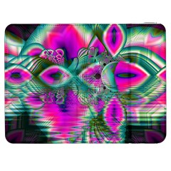 Crystal Flower Garden, Abstract Teal Violet Samsung Galaxy Tab 7  P1000 Flip Case